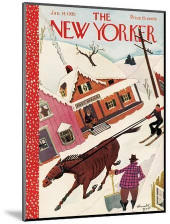 The New Yorker Cover - January 14, 1939-Arnold Hall-Mounted Premium Giclee Print