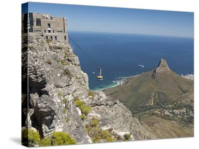 Table Mountain National Park Cableway Aerial Tram and Station, Cape Town, South Africa-Cindy Miller Hopkins-Stretched Canvas Print