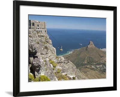 Table Mountain National Park Cableway Aerial Tram and Station, Cape Town, South Africa-Cindy Miller Hopkins-Framed Photographic Print