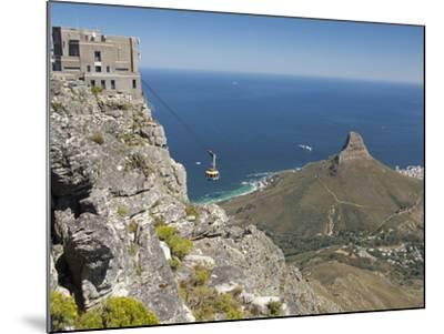 Table Mountain National Park Cableway Aerial Tram and Station, Cape Town, South Africa-Cindy Miller Hopkins-Mounted Photographic Print