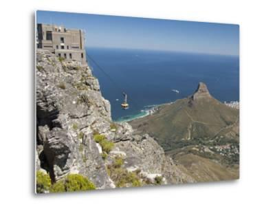 Table Mountain National Park Cableway Aerial Tram and Station, Cape Town, South Africa-Cindy Miller Hopkins-Metal Print