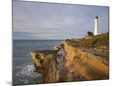 Castle Point Lighthouse, Castlepoint, Wairarapa, North Island, New Zealand-David Wall-Mounted Photographic Print