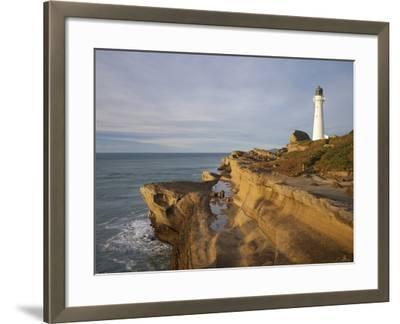 Castle Point Lighthouse, Castlepoint, Wairarapa, North Island, New Zealand-David Wall-Framed Photographic Print