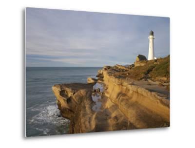 Castle Point Lighthouse, Castlepoint, Wairarapa, North Island, New Zealand-David Wall-Metal Print