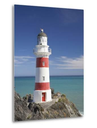Historic Cape Palliser Lighthouse (1897), Wairarapa, North Island, New Zealand-David Wall-Metal Print
