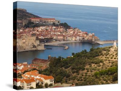 Collioure, Vermillion Coast Area, Pyrennes-Orientales Department, Languedoc-Roussillon, France-Walter Bibikow-Stretched Canvas Print