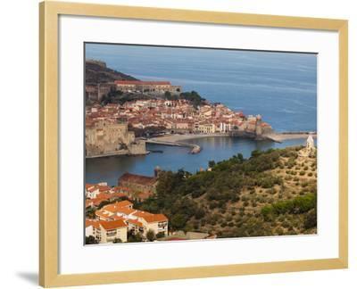 Collioure, Vermillion Coast Area, Pyrennes-Orientales Department, Languedoc-Roussillon, France-Walter Bibikow-Framed Photographic Print
