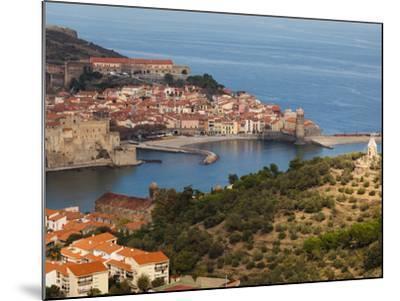 Collioure, Vermillion Coast Area, Pyrennes-Orientales Department, Languedoc-Roussillon, France-Walter Bibikow-Mounted Photographic Print