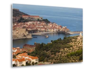Collioure, Vermillion Coast Area, Pyrennes-Orientales Department, Languedoc-Roussillon, France-Walter Bibikow-Metal Print