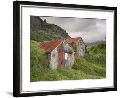 Rural Buildings, Iceland-Adam Jones-Framed Photographic Print