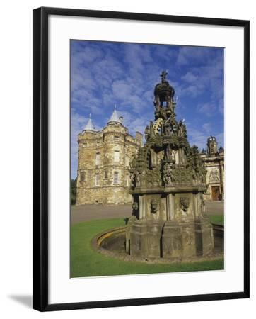 Fountain on the Grounds of Holyroodhouse Palace, Edinburgh, Scotland-Christopher Bettencourt-Framed Photographic Print