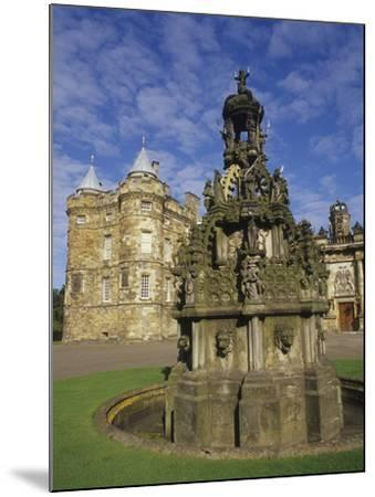 Fountain on the Grounds of Holyroodhouse Palace, Edinburgh, Scotland-Christopher Bettencourt-Mounted Photographic Print