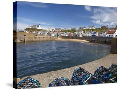 Harbour, Findochty, Moray, Scotland-David Wall-Stretched Canvas Print