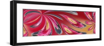 Flower Refracted in Waterdrop-Adam Jones-Framed Photographic Print