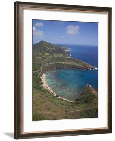 Hanauma Bay, Oahu, Hawaii-Douglas Peebles-Framed Photographic Print