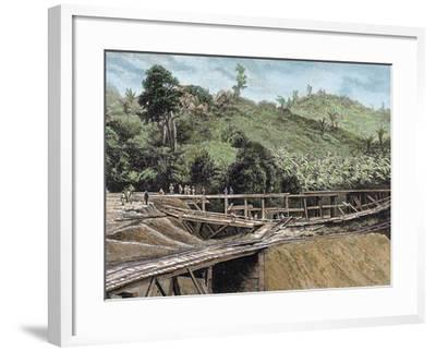 Construction of the Panama Canal. Works in Bridge Called 'Alto-Obispo'-Prisma Archivo-Framed Photographic Print
