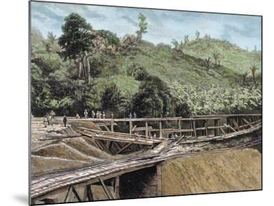 Construction of the Panama Canal. Works in Bridge Called 'Alto-Obispo'-Prisma Archivo-Mounted Photographic Print
