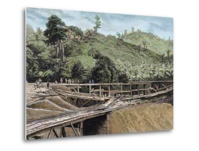 Construction of the Panama Canal. Works in Bridge Called 'Alto-Obispo'-Prisma Archivo-Metal Print