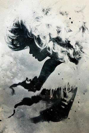 Black Cloud-Alex Cherry-Stretched Canvas Print