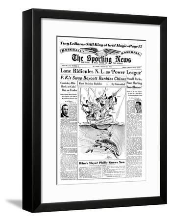 American League Pennant Race - August 31, 1955--Framed Photo