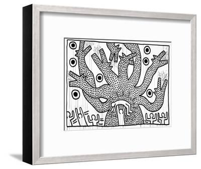 Untitled, 1982-Keith Haring-Framed Giclee Print