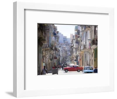 View Along Congested Street in Havana Centro, Cuba-Lee Frost-Framed Photographic Print