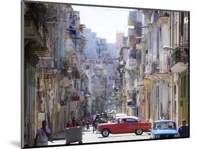 View Along Congested Street in Havana Centro, Cuba-Lee Frost-Mounted Photographic Print