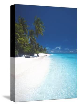Desert Island, Baa Atoll, the Maldives, Indian Ocean, Asia-Sakis Papadopoulos-Stretched Canvas Print