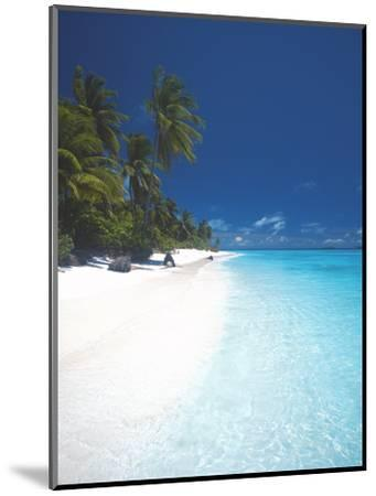 Desert Island, Baa Atoll, the Maldives, Indian Ocean, Asia-Sakis Papadopoulos-Mounted Photographic Print