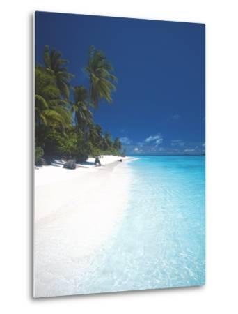 Desert Island, Baa Atoll, the Maldives, Indian Ocean, Asia-Sakis Papadopoulos-Metal Print