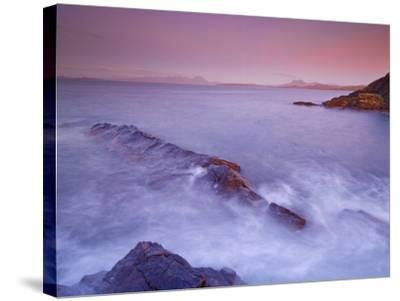 Sunset at Mellon Udrigle, Waves and Rocks, Wester Ross, North West Scotland, United Kingdom, Europe-Neale Clarke-Stretched Canvas Print