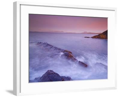 Sunset at Mellon Udrigle, Waves and Rocks, Wester Ross, North West Scotland, United Kingdom, Europe-Neale Clarke-Framed Photographic Print