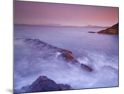 Sunset at Mellon Udrigle, Waves and Rocks, Wester Ross, North West Scotland, United Kingdom, Europe-Neale Clarke-Mounted Photographic Print