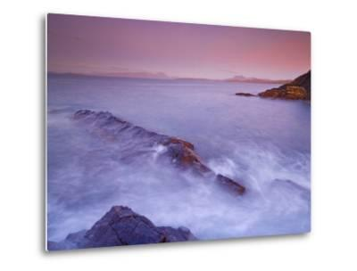 Sunset at Mellon Udrigle, Waves and Rocks, Wester Ross, North West Scotland, United Kingdom, Europe-Neale Clarke-Metal Print