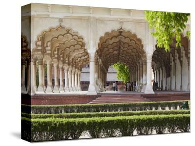 Diwan-I-Am (Hall of Public Audiences) in Agra Fort, Agra, Uttar Pradesh, India-Ian Trower-Stretched Canvas Print