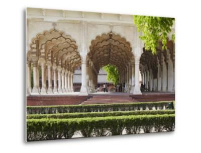 Diwan-I-Am (Hall of Public Audiences) in Agra Fort, Agra, Uttar Pradesh, India-Ian Trower-Metal Print