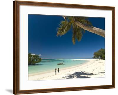 Beautiful Beach in Nosy Iranja, a Little Island Near Nosy Be, Madagascar, Indian Ocean, Africa-Michael Runkel-Framed Photographic Print