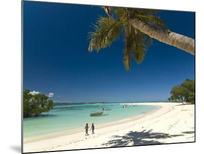 Beautiful Beach in Nosy Iranja, a Little Island Near Nosy Be, Madagascar, Indian Ocean, Africa-Michael Runkel-Mounted Photographic Print