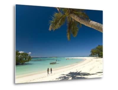 Beautiful Beach in Nosy Iranja, a Little Island Near Nosy Be, Madagascar, Indian Ocean, Africa-Michael Runkel-Metal Print
