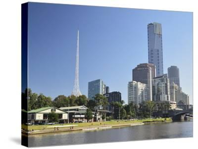 Melbourne Central Business District (Cbd) and Yarra River, Melbourne, Victoria, Australia, Pacific-Jochen Schlenker-Stretched Canvas Print