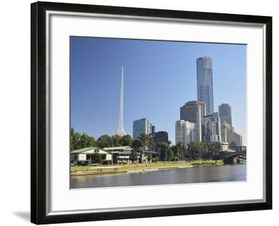 Melbourne Central Business District (Cbd) and Yarra River, Melbourne, Victoria, Australia, Pacific-Jochen Schlenker-Framed Photographic Print
