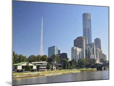 Melbourne Central Business District (Cbd) and Yarra River, Melbourne, Victoria, Australia, Pacific-Jochen Schlenker-Mounted Photographic Print