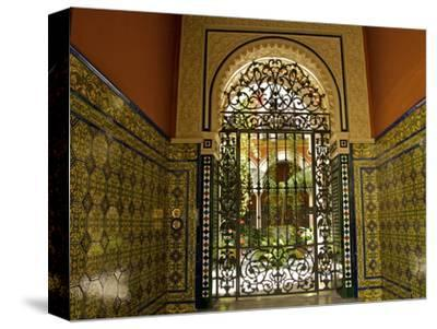 Beautiful Sevillan Patio, Triana District, Sevilla, Andalusia, Spain, Europe-Guy Thouvenin-Stretched Canvas Print