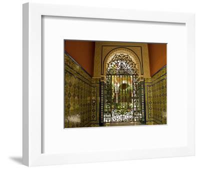 Beautiful Sevillan Patio, Triana District, Sevilla, Andalusia, Spain, Europe-Guy Thouvenin-Framed Photographic Print