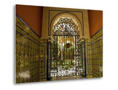 Beautiful Sevillan Patio, Triana District, Sevilla, Andalusia, Spain, Europe-Guy Thouvenin-Metal Print