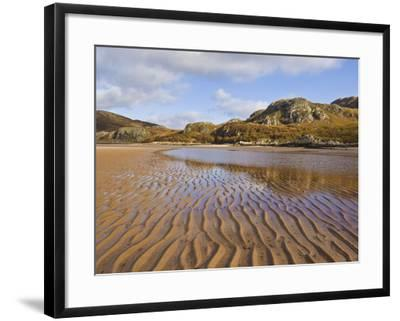 Sand Ripple Patterns on Little Gruinard Beach, Gruinard Bay, Wester Ross, Northwest Scotland-Neale Clarke-Framed Photographic Print