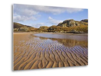 Sand Ripple Patterns on Little Gruinard Beach, Gruinard Bay, Wester Ross, Northwest Scotland-Neale Clarke-Metal Print