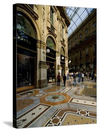 Galleria Vittorio Emanuele Ii, Milan, Lombardy, Italy, Europe-Charles Bowman-Stretched Canvas Print