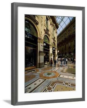 Galleria Vittorio Emanuele Ii, Milan, Lombardy, Italy, Europe-Charles Bowman-Framed Photographic Print