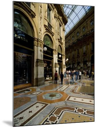 Galleria Vittorio Emanuele Ii, Milan, Lombardy, Italy, Europe-Charles Bowman-Mounted Photographic Print